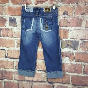 Baby Phat Capri Cropped Jeans Size 3 Juniors